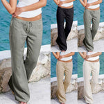 Casual Loose Soft Cotton Bell Bottoms