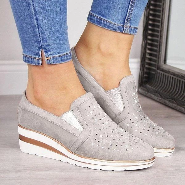 Casual Comfy Wedge Slip-On Shoes
