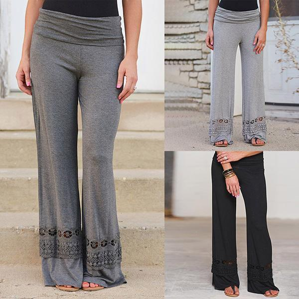 Casual Loose Harem Elastic High Waist Yoga Wide Leg Pants