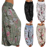 Boho Floral Print Casual Loose Yoga Lounge Pants
