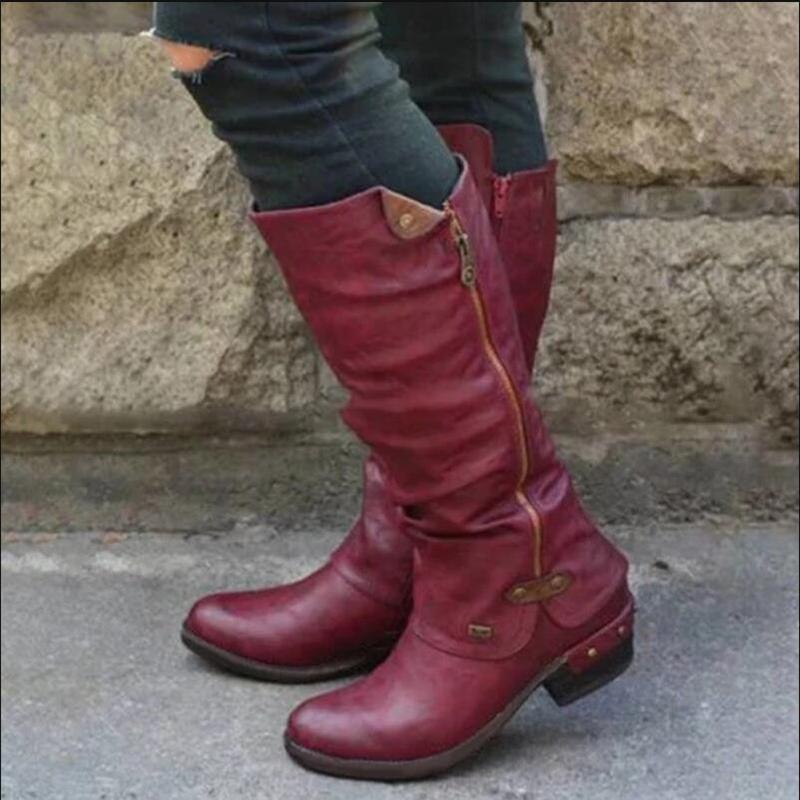 2019 Retro High-top Women's Boots