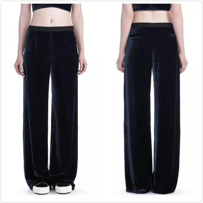 Casual Loose Velvet High-waist Wide-leg Pants