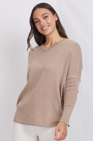 Vneck Oversized Knitted Tops
