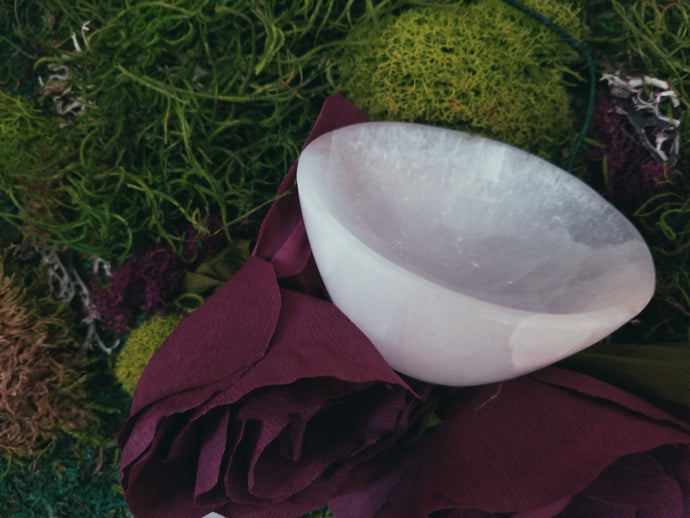 Selenite Bowl - Jasmine Moon