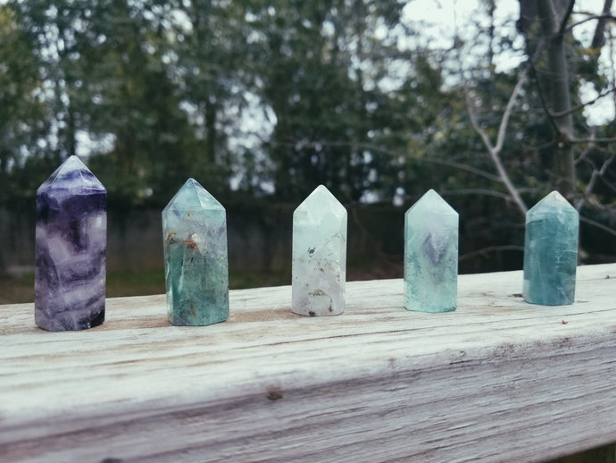Fluorite Crystal Points - Jasmine Moon