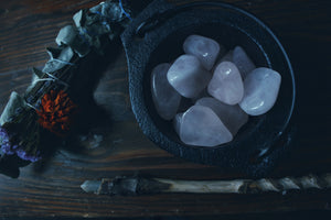 Rose Quartz Crystals - Jasmine Moon