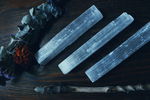 Selenite Charging Wands - Ceraso Erborista
