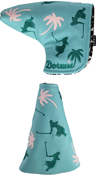 Dormie Workshop Hula Palms Putter Cover Leather Golf Headcover