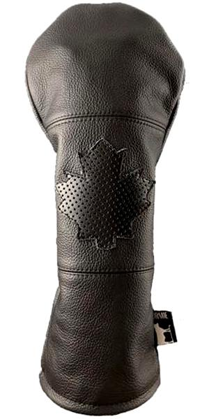 Dormie Workshop Midnight Oh Canada Perforated Leather Golf Headcover