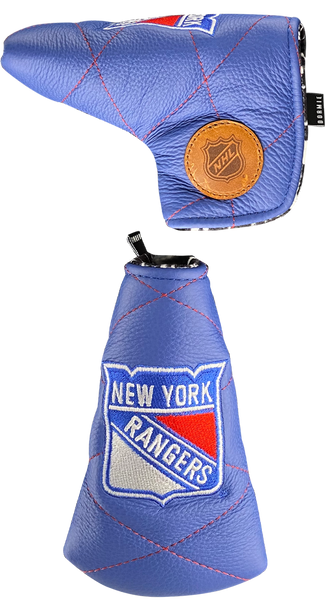 Dormie Workshop New York Rangers Quilted Leather Golf Headcover