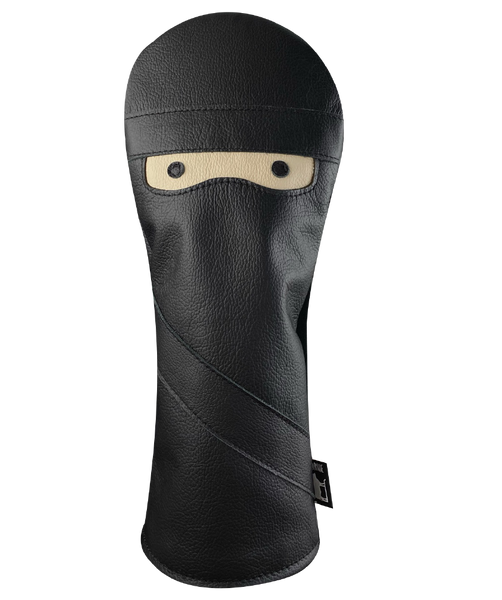 Dormie Workshop Night Ninja Blackout Leather Golf Headcover