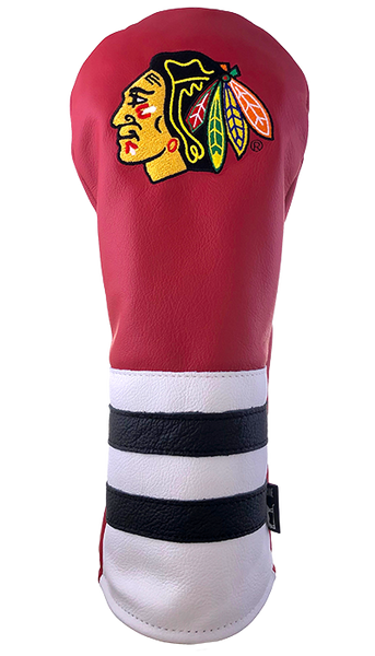 Dormie Workshop Chicago Black Hawks Leather Golf Headcover