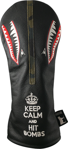 Dormie Workshop Keep Calm And Hit Bombs Leather Golf Headcover