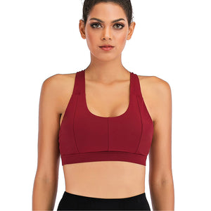 Cross Back Yoga Workout Top Bra