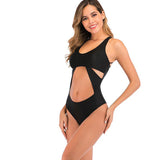 Women's One Piece Cross Back Swimsuit with Built in Bra