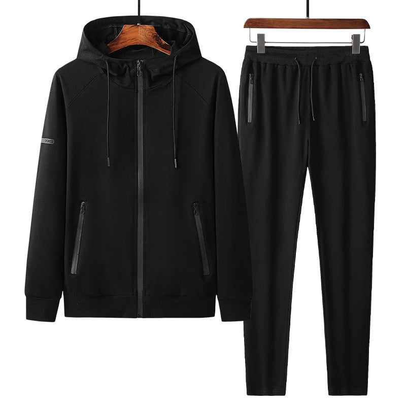 Hooded Cardigan Casual Outer Jacket Men's Sports Suit