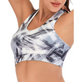 Colorful Halter Criss Cross Back Yoga Workout Top Bra