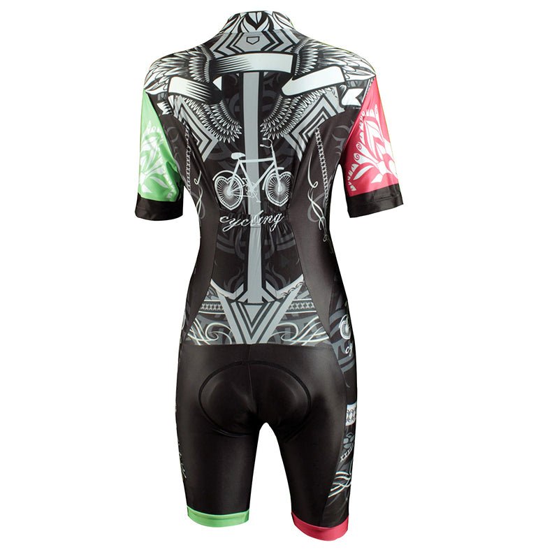 Women'S Short Sleeves Cycling Jumpsuit