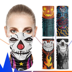 Unisex Face Ear Loops Neck Gaiter,Halloween Costumes Face Scarf