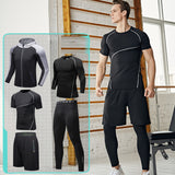 Men Yoga Fitness Suit Moisture Wicking Yoga Suit
