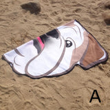 Soft Microfiber Creative Beach Mat  Bikini Cover Up