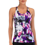 Floral Printed Sports Yoga Tops