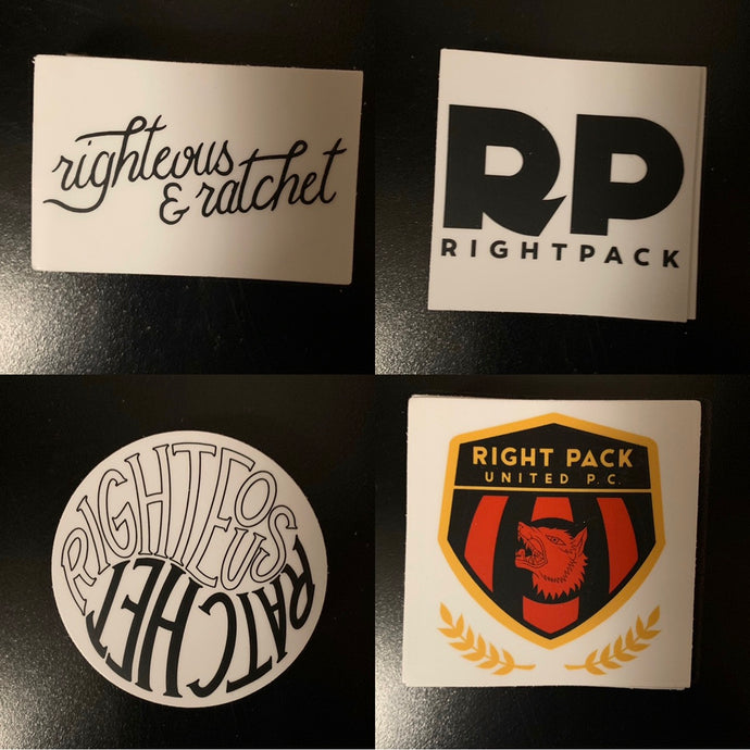 Righteous and Ratchet Sticker Pack