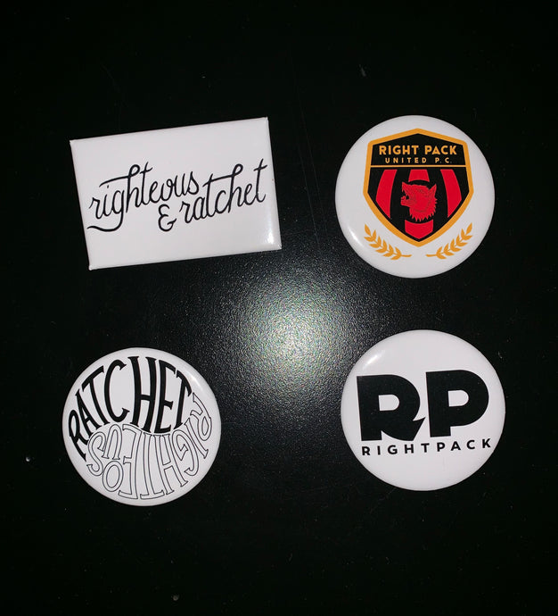 Righteous & Ratchet Button Pack