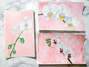 Family Floral Orchid Original Painting - Lucy