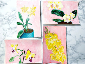 Family Floral Orchid Original Painting - Shirley