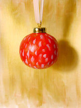 Load image into Gallery viewer, Red and Gold Ceramic Christmas Ornament
