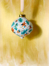 Load image into Gallery viewer, Poinsettia Ceramic Christmas Ornament