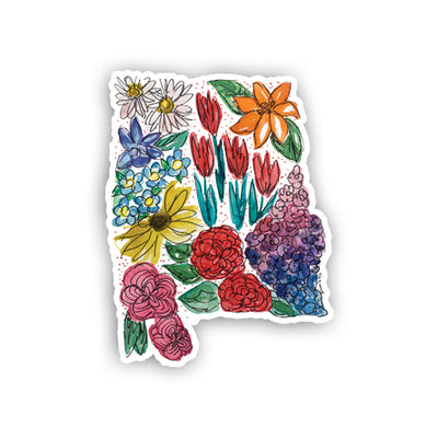 Floral State Sticker - Alabama