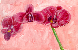 Family Floral Orchid Original Painting - Ana