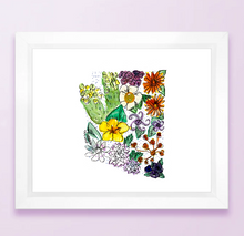Load image into Gallery viewer, Arizona Floral State Print