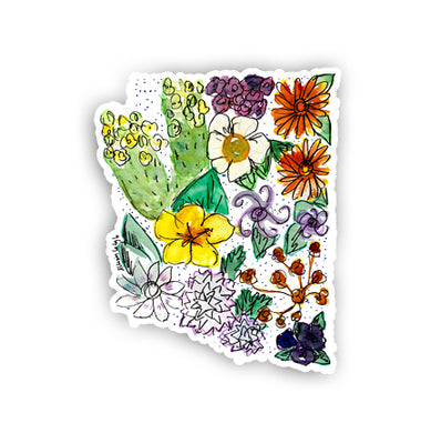 Floral State Sticker - Arizona