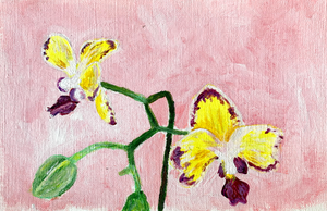 Family Floral Orchid Original Painting - Aurestela