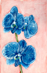 Family Floral Orchid Original Painting - Bernadette
