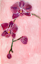 Load image into Gallery viewer, Family Floral Orchid Original Painting - Christina