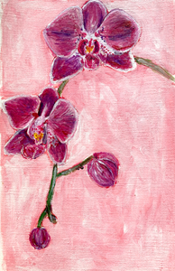 Family Floral Orchid Original Painting - Christina