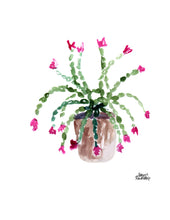 Load image into Gallery viewer, Watercolor Plant Print - Christmas Cactus