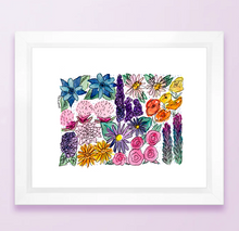 Load image into Gallery viewer, Floral State Map Print - Colorado
