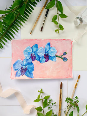 Family Floral Orchid Original Painting - Darlene