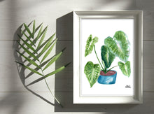 Load image into Gallery viewer, Watercolor Plant Print - Elephant Ears