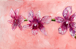 Family Floral Orchid Original Painting - Emmy