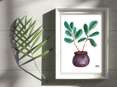 Watercolor Plant Print - Fiddle Leaf Fig