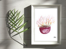 Load image into Gallery viewer, Watercolor Plant Print - Firestick Cactus