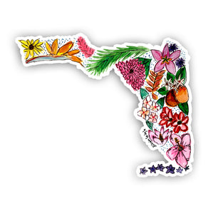 Floral State Sticker - Florida
