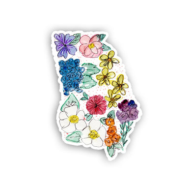 Floral State Sticker - Georgia
