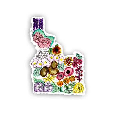 Floral State Sticker - Idaho